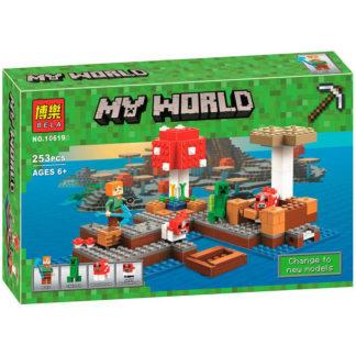 Bela 10619 Грибной остров Minecraft конструктор