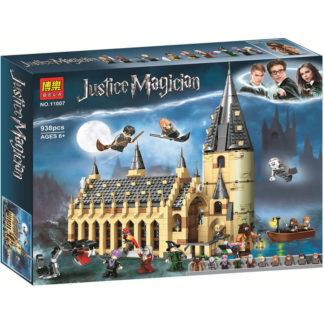 Bela 11007 Большой зал Хогвартса конструктор серии Гарри Поттер. Аналог Лего 75954.