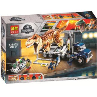 Конструктор BELA 10927 транспорт для перевозки Ти-рекса - Dinosaur World